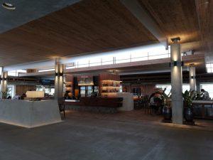 下地島空港 手荷物検査後のスペース